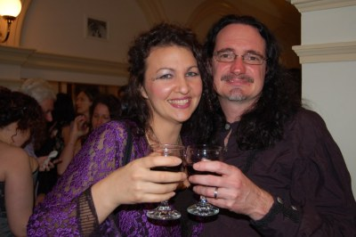 Kirstyn McDermott and Jason Nahrung at 2010 Aurealis Awards