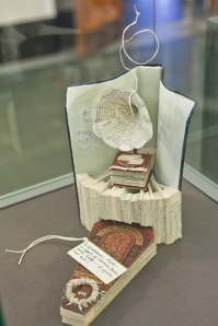 Book scupture found at National Library of Scotland
