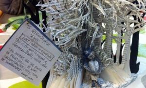Paper sculpture found at Edinburgh Book Festival 2011